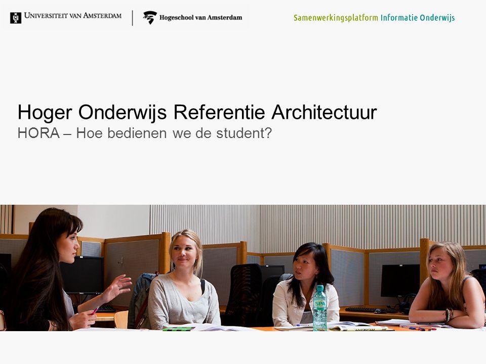 Hoger Onderwijs Referentie Architectuur HORA – Hoe bedienen we de student?