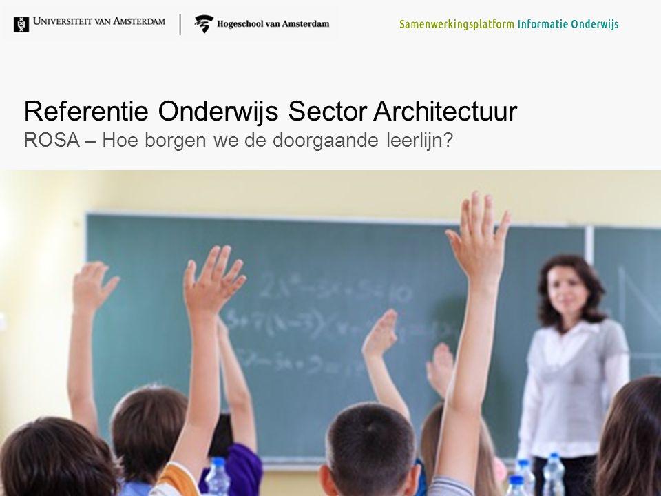Referentie Onderwijs Sector Architectuur ROSA – Hoe borgen we de doorgaande leerlijn?