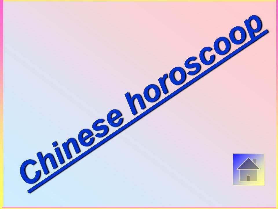 Chinese horoscoop