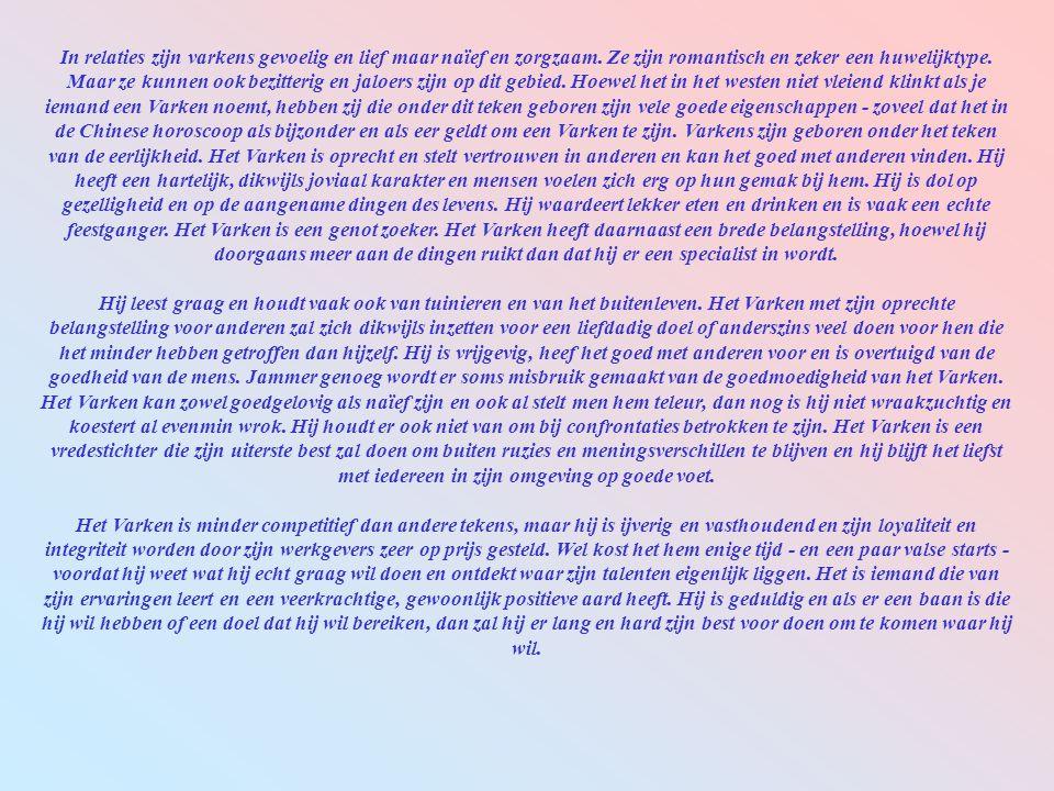 Positief: Eerlijkheid, nauwgezetheid, beschaving, zinnelijkheid, 'ridderlijke gevoelens'. Negatief: Schransen, materialisme, naïviteit, woede, 'een tw
