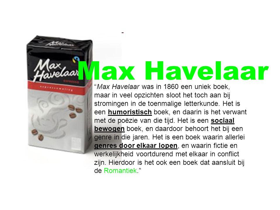 Max Havelaar was in 1860 een uniek boek, maar in veel opzichten sloot het toch aan bij stromingen in de toenmalige letterkunde.