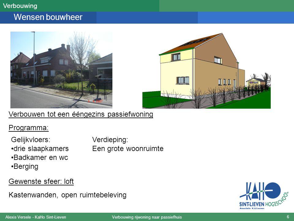 PHPP-studie Alexis Versele KaHo Sint-Lieven – 29/08/2007