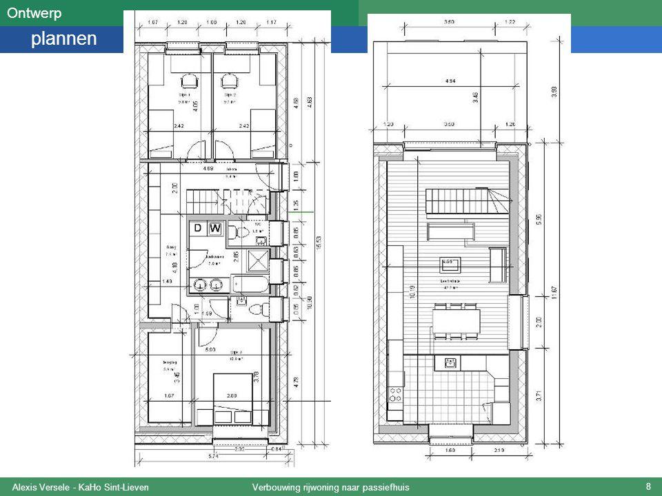 Verbouwing rijwoning naar passiefhuisAlexis Versele - KaHo Sint-Lieven 19 Koudebruggen PHPP-studie Eis -Minimum binnenoppervlaktetemperatuur: 17°C OK Ψ < 0,01 W/mK