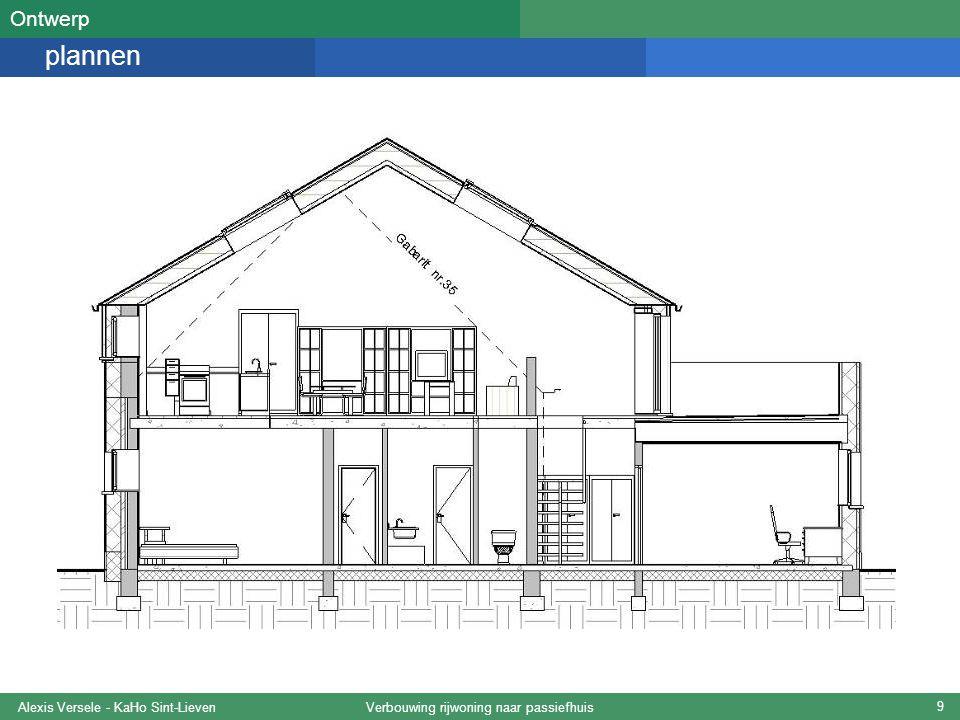 Verbouwing rijwoning naar passiefhuisAlexis Versele - KaHo Sint-Lieven 10 gevels Ontwerp Noordgevel Oostgevel Westgevel