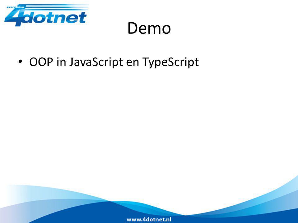 Demo OOP in JavaScript en TypeScript