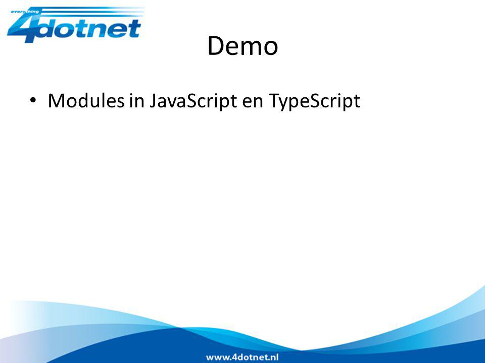 Demo Modules in JavaScript en TypeScript
