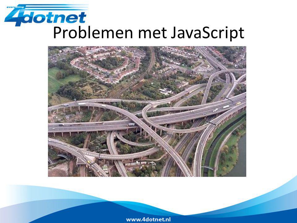Problemen met JavaScript