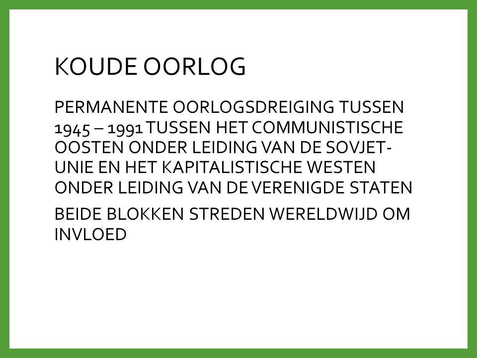 TWEE IDEOLOGISCHE BLOKKEN 1945 - 1955