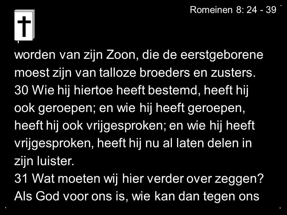 ....Romeinen 8: 24 - 39 zijn.
