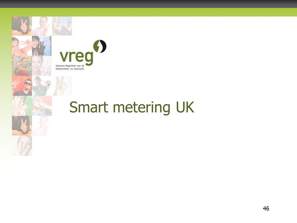 Vlaamse Regulator van de Elektriciteits- en Gasmarkt 46 Smart metering UK