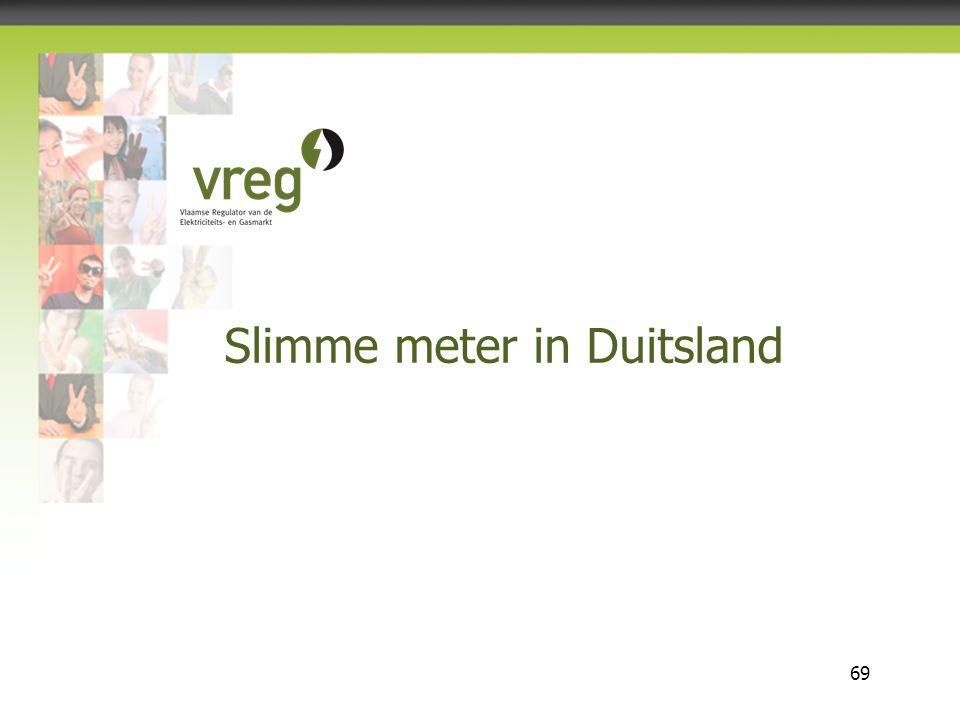 Vlaamse Regulator van de Elektriciteits- en Gasmarkt 69 Slimme meter in Duitsland