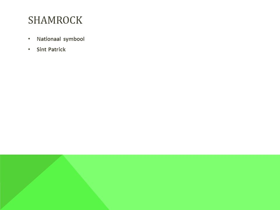 SHAMROCK Nationaal symbool Sint Patrick
