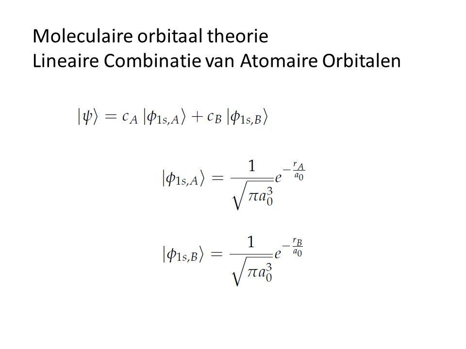 Moleculaire orbitaal theorie Lineaire Combinatie van Atomaire Orbitalen
