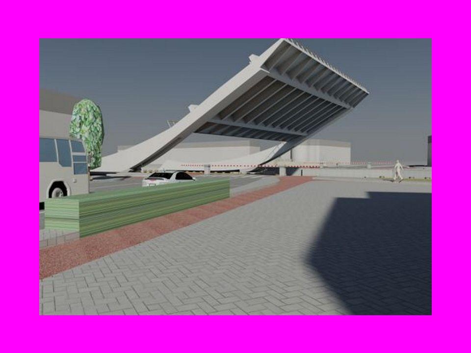 Maquette van de nieuwe brug