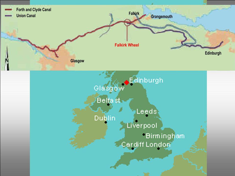 Een Schots verhaal… Tussen de havens van Grangemouth en Falkirk werd in 1777 het kanaal van Forth & Clyde gegraven. Het verbond Glasgow met de de Oost