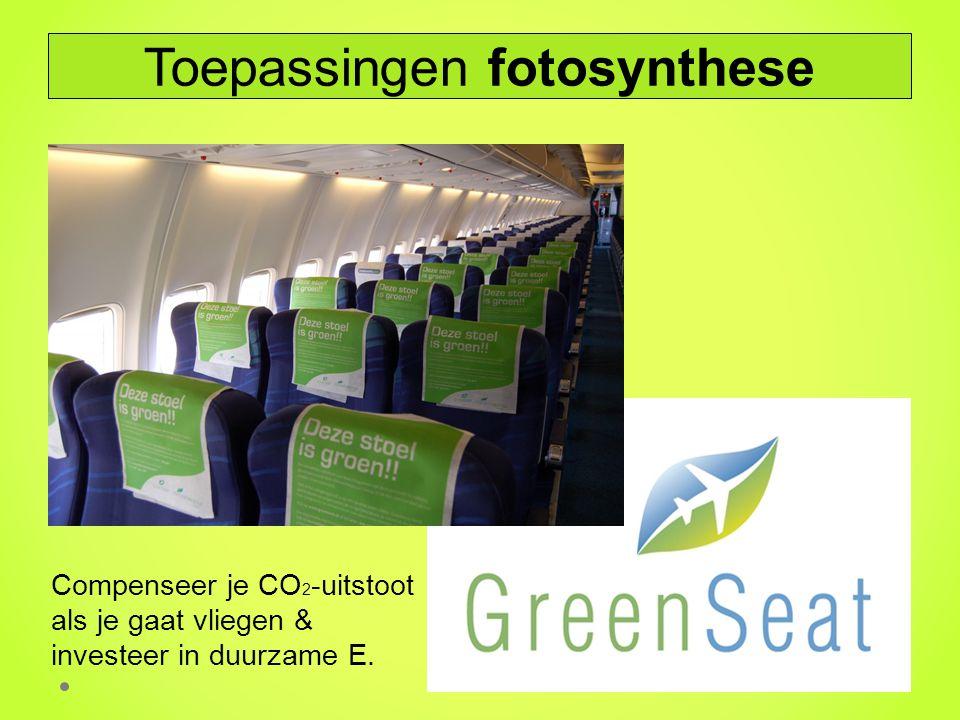 Compenseer je CO 2 -uitstoot als je gaat vliegen & investeer in duurzame E. Toepassingen fotosynthese