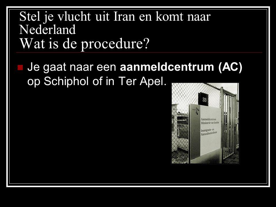 Stel je vlucht uit Iran en komt naar Nederland Wat is de procedure.