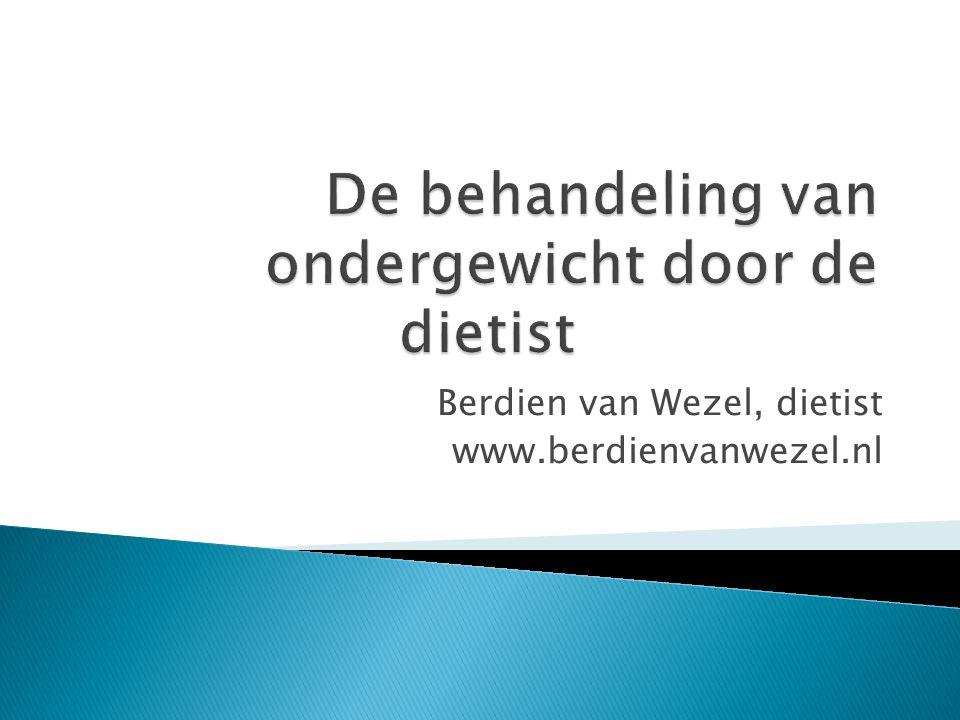 Berdien van Wezel, dietist www.berdienvanwezel.nl