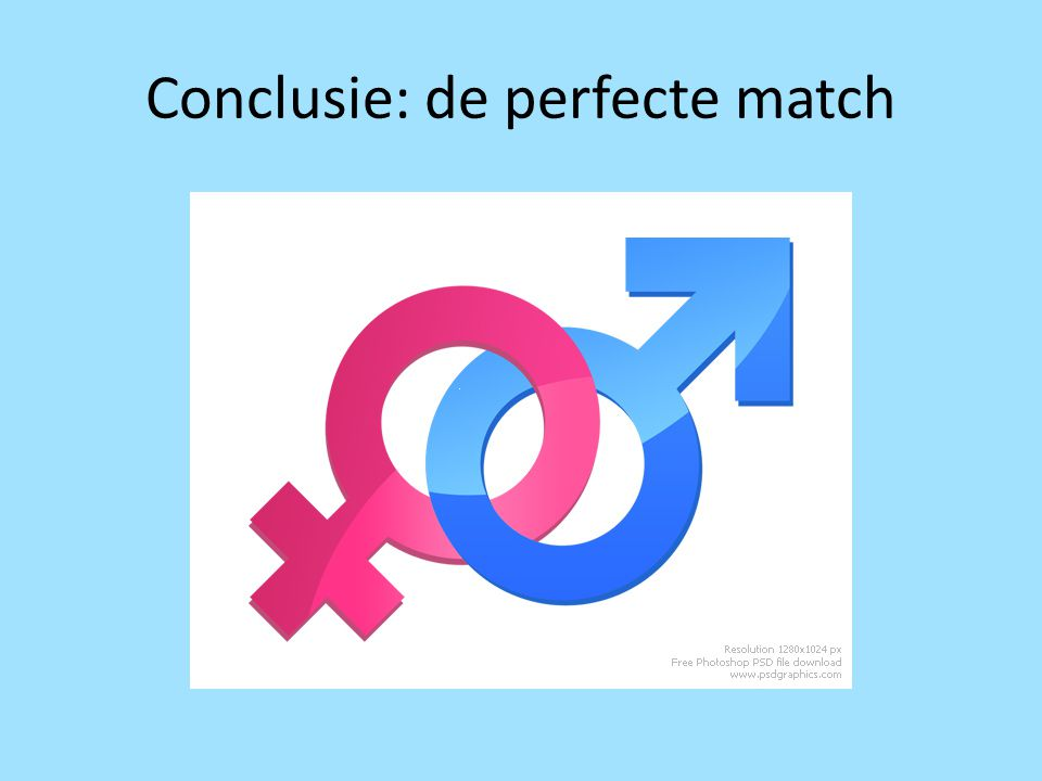 Conclusie: de perfecte match