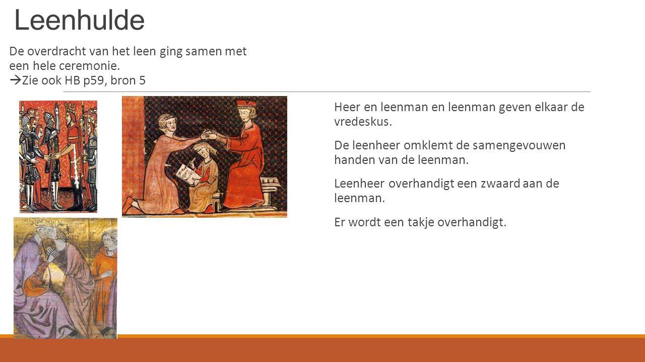 Leenhulde De overdracht van het leen ging samen met een hele ceremonie.