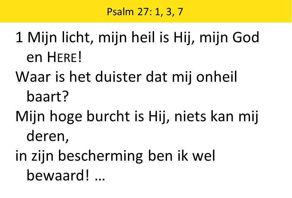 Schriftberijming 28: 1-5 1 De grote dag breekt weldra aan, het einde van de tijd.