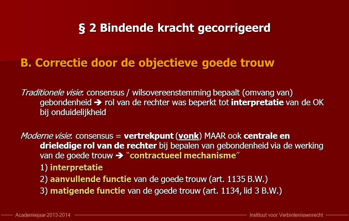 Instituut voor VerbintenissenrechtAcademiejaar 2013-2014 § 2 Bindende kracht gecorrigeerd B.