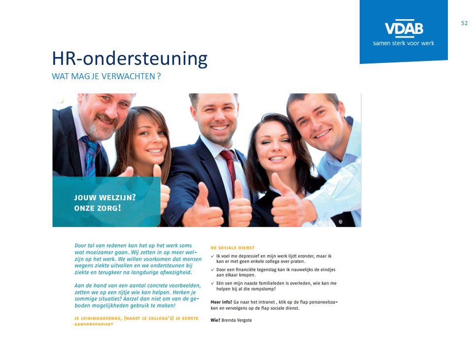 HR-ondersteuning WAT MAG JE VERWACHTEN ? 52
