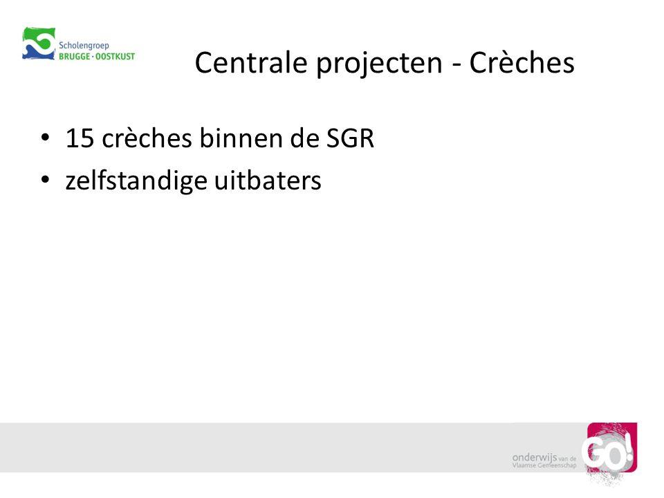 Centrale projecten - Crèches 15 crèches binnen de SGR zelfstandige uitbaters