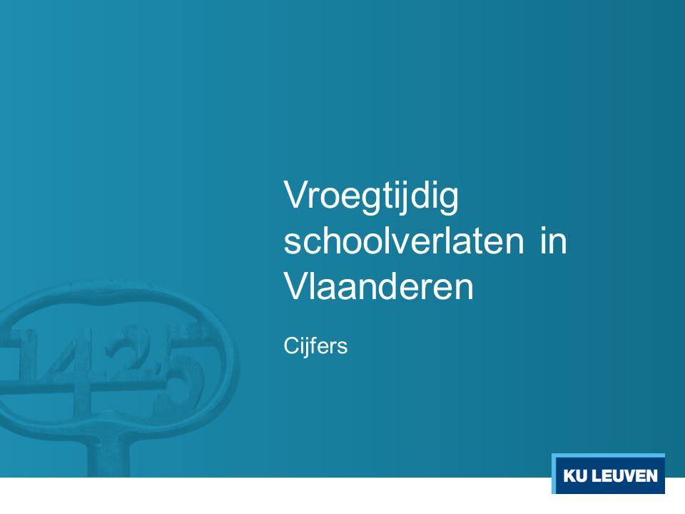 Vroegtijdig schoolverlaten in Vlaanderen Cijfers