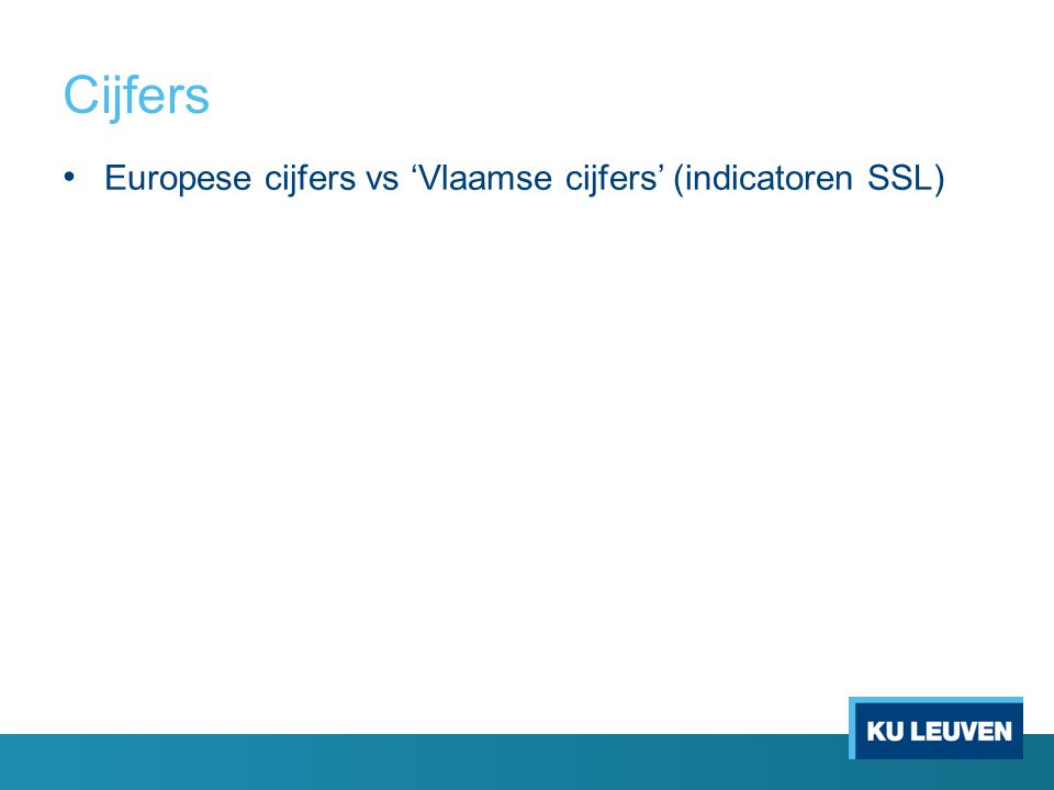 Europese cijfers vs 'Vlaamse cijfers' (indicatoren SSL)