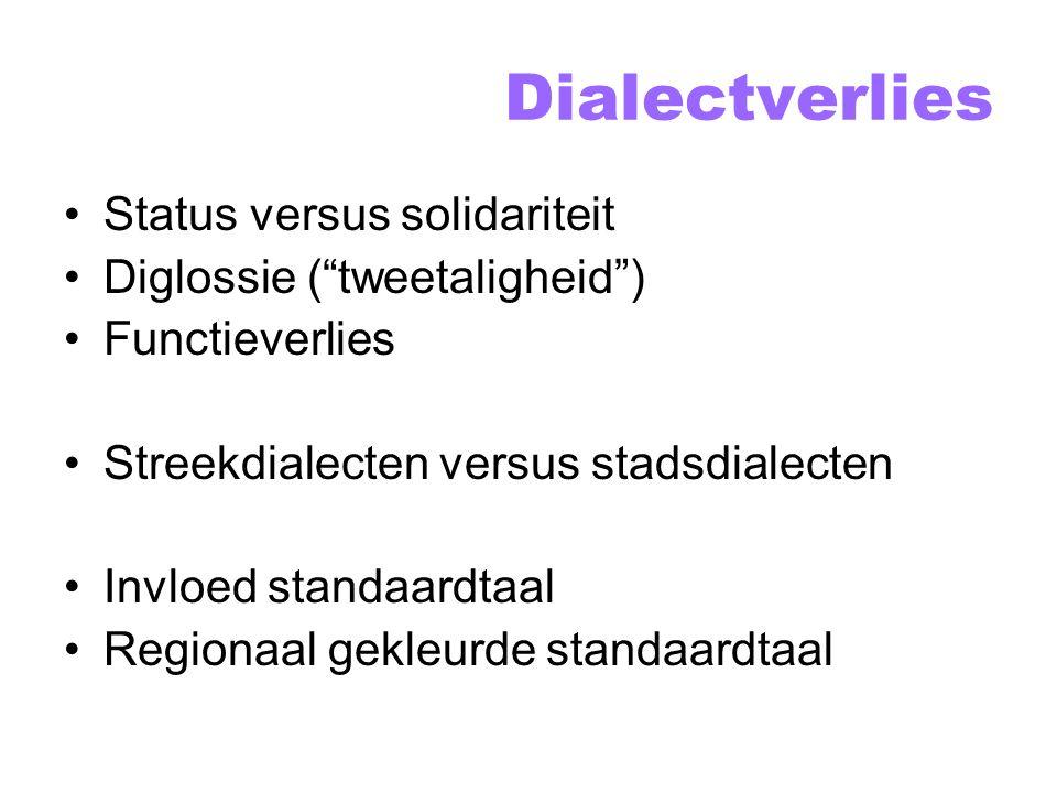 Stadsdialecten Bijv.: het Haags (.