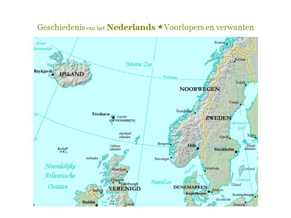 Geschiedenis van het Nederlands  Voorlopers en verwanten De Franken  In 406 trekken de Franken de Rijn over en veroveren Noord-Gallië (tot aan de Loire)  => een tweetalig Frankenrijk  Hoe meer naar het noorden: hoe meer Germaans  Hoe meer naar het zuiden: hoe meer Romaans