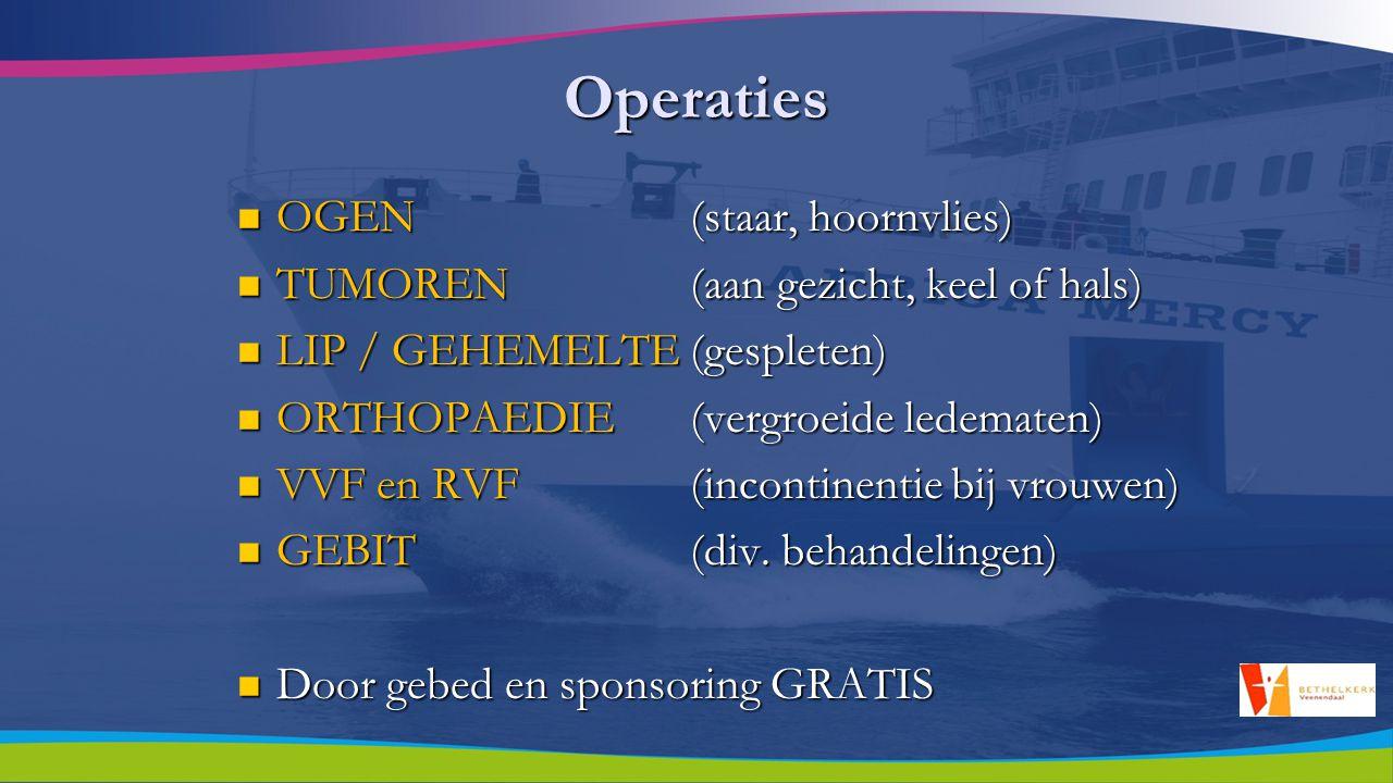 Andere activiteiten Medische training aan boord en aan wal voor Medische training aan boord en aan wal voor O.K.