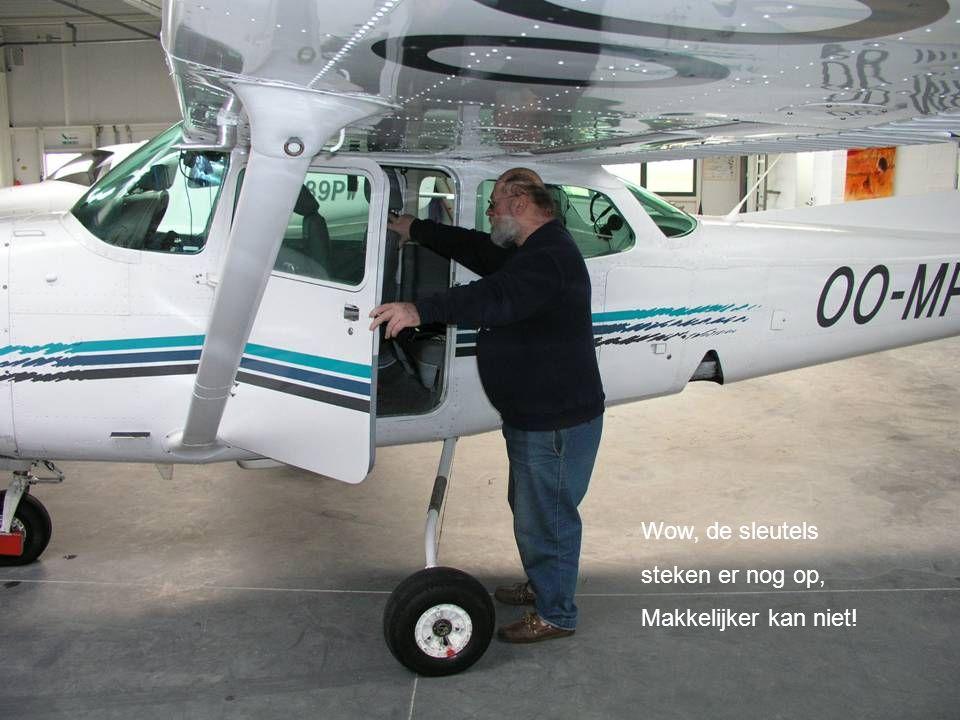 Dit is ons doelwit, de Cessna 172 RG.