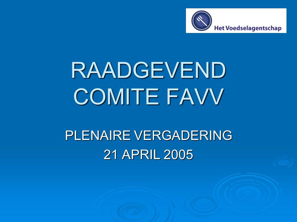 OVERZICHT  Opdracht Raadgevend Comité  Samenstelling  Werking  Communicatie