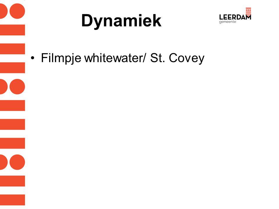 Dynamiek Filmpje whitewater/ St. Covey