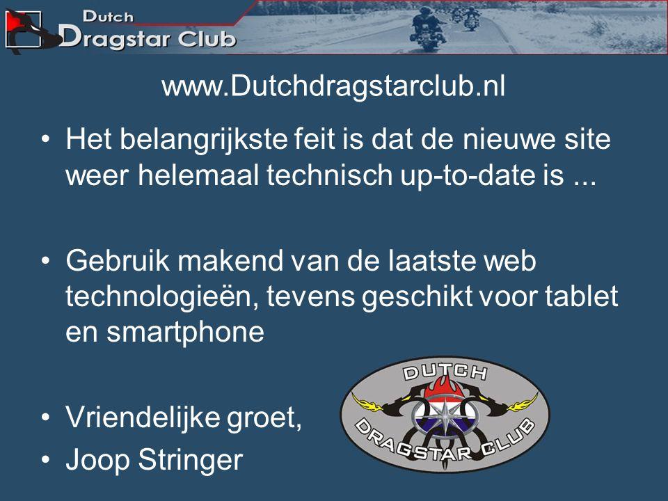 Nieuwe Webmaster Onze nieuwe webmaster wordt Link ( Rick ) Bestuur en members Wensen je veel succes.