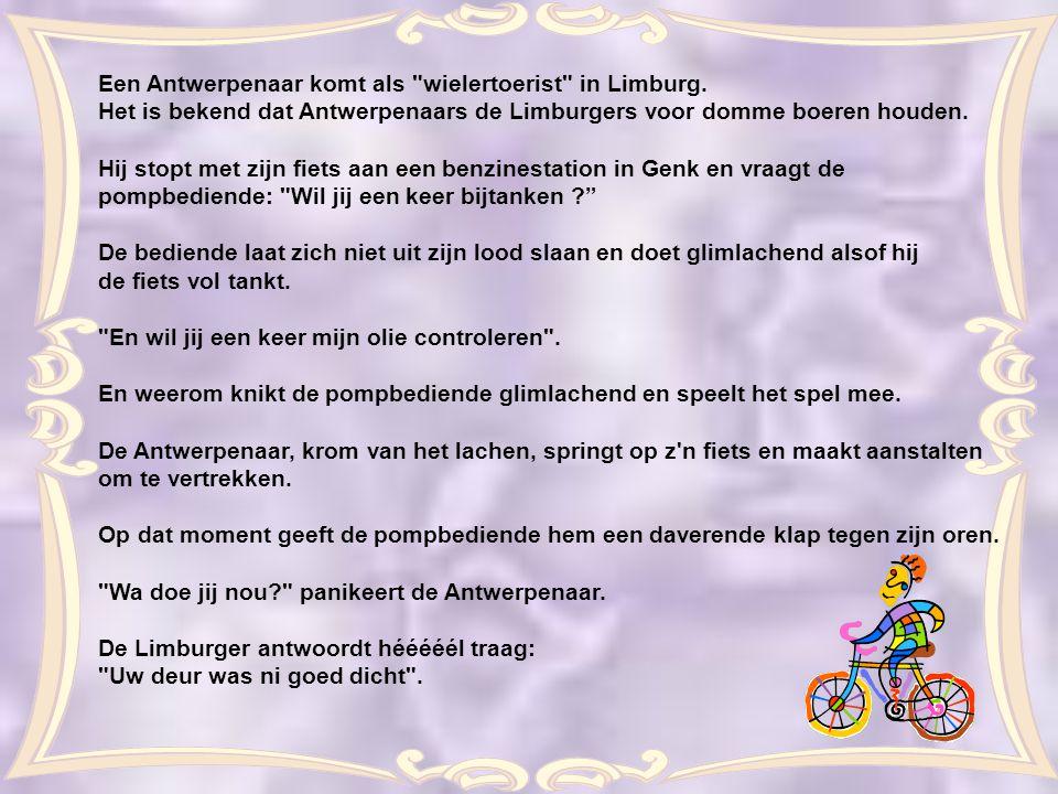 Een Antwerpenaar komt als wielertoerist in Limburg.