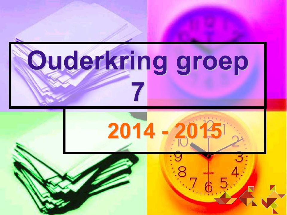 Ouderkring groep 7 2014 - 2015