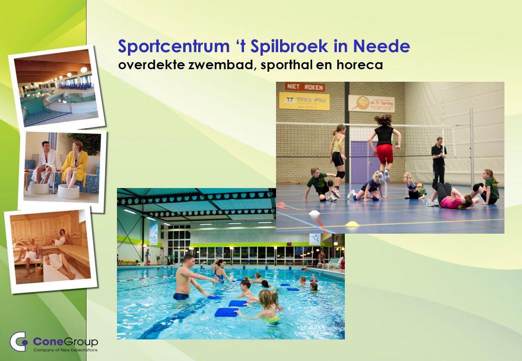 Sportcentrum 't Spilbroek in Neede overdekte zwembad, sporthal en horeca