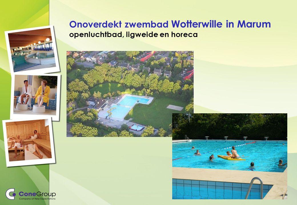 Onoverdekt zwembad Wotterwille in Marum openluchtbad, ligweide en horeca
