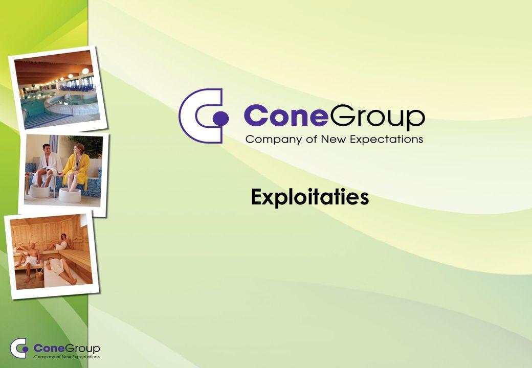 Kengegevens ConeExploitaties Aantal exploitaties11 Aantal faciliteiten34 Aantal medewerk(st)ers220