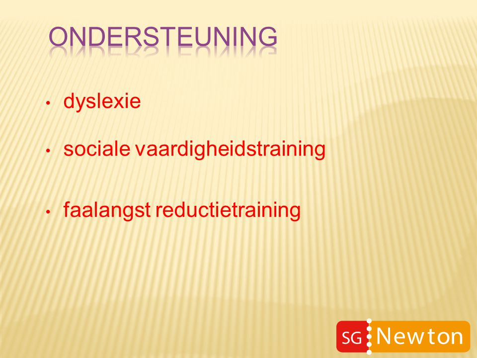 dyslexie sociale vaardigheidstraining faalangst reductietraining