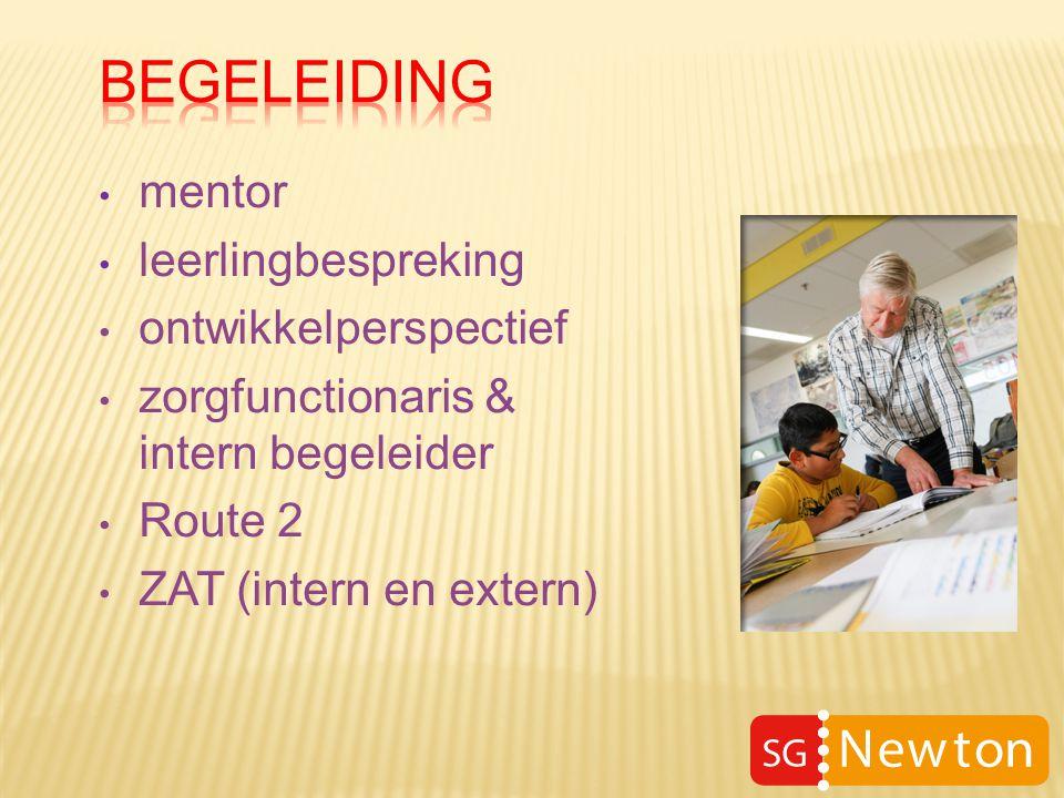 mentor leerlingbespreking ontwikkelperspectief zorgfunctionaris & intern begeleider Route 2 ZAT (intern en extern)
