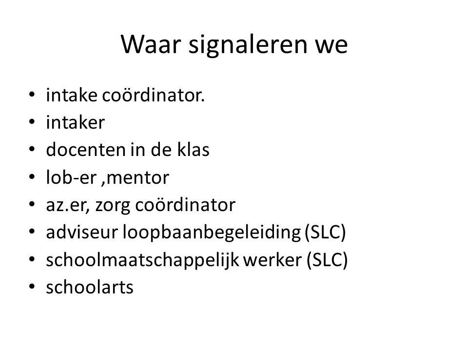 Leervraag: Hoe verbinden we de signalen bij studenten op de verschillende plekken zo goed mogelijk?