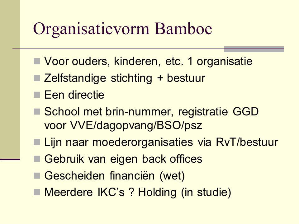 Organisatievorm Bamboe Voor ouders, kinderen, etc.