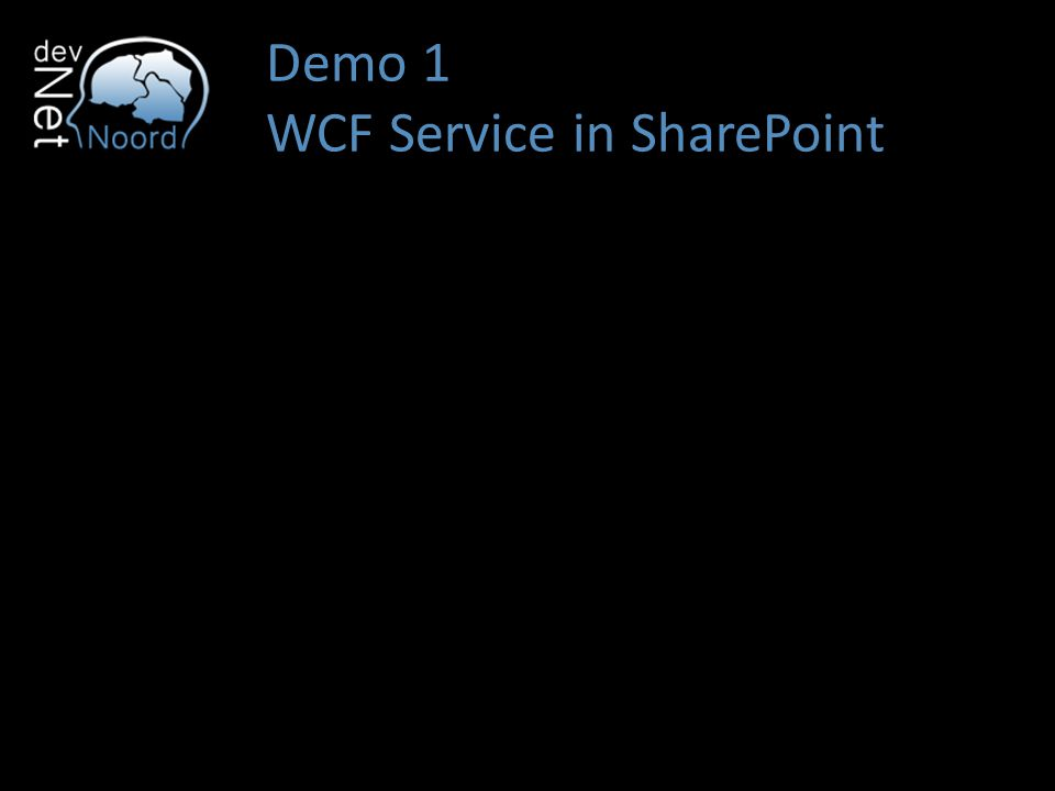 Demo 1 WCF Service in SharePoint