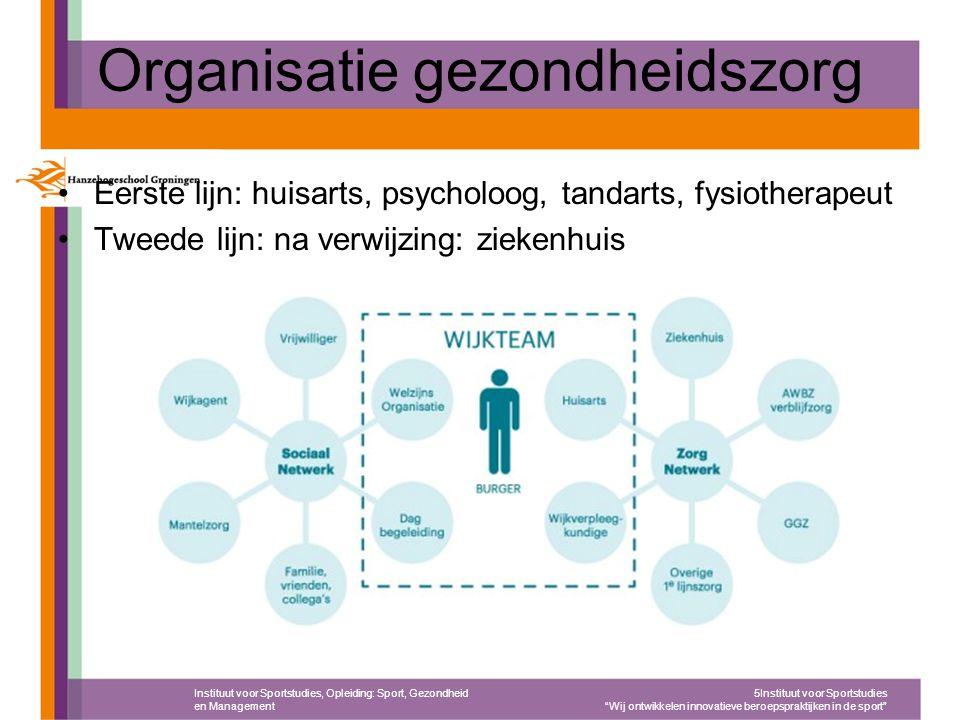 Kosten van de zorg in NL In 2012 werd bijna € 93 miljard uitgegeven aan gezondheidszorg en welzijnszorg –Ziekenhuiszorg: 25,8% –Tandartsen en paramedici: 5,2% –GGZ: 6,1% –Gehandicaptenzorg: 9,9% –Geneesmiddelen: 6,4% –15,4% van het BNP!.