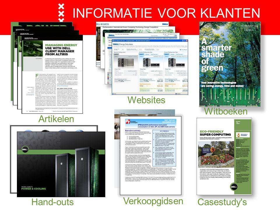 INFORMATIE VOOR KLANTEN Websites Witboeken Casestudy's Verkoopgidsen Hand-outs Artikelen
