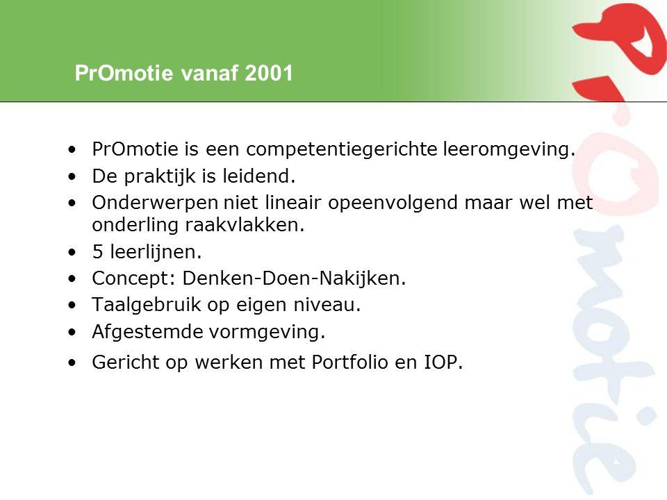 PrOmotie vanaf 2001 PrOmotie is een competentiegerichte leeromgeving.
